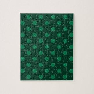 Lunares grandes - verde en verde oscuro rompecabezas con fotos