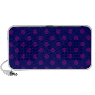 Lunares grandes - violeta oscura en azul marino iPhone altavoz