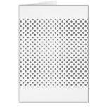 Lunares - gris en blanco tarjetas