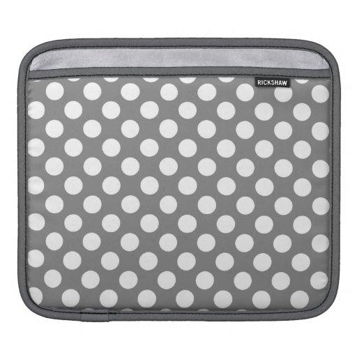 Lunares gris oscuro manga de iPad