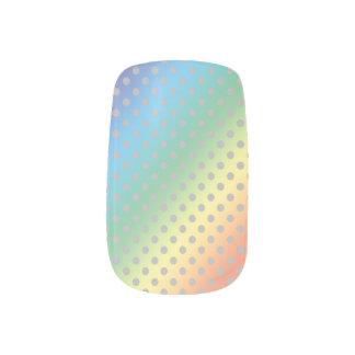 lunares grises minúsculos del arco iris pegatina para uñas