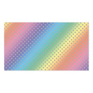lunares grises minúsculos del arco iris tarjeta de visita