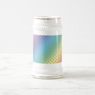 lunares grises minúsculos del arco iris tazas de café