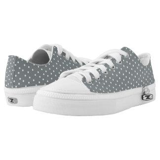 Lunares grises y blancos lindos zapatillas
