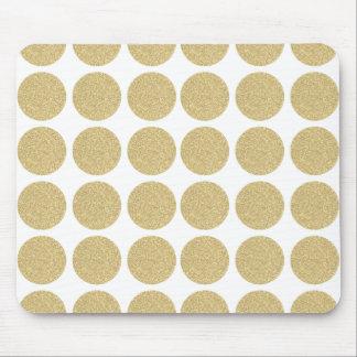 Lunares intrépidos del oro del brillo tapete de ratones