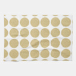 Lunares intrépidos del oro del brillo toalla