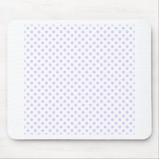Lunares - lavanda pálida en blanco mouse pads