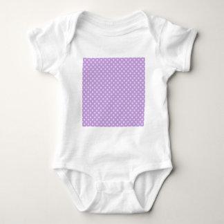Lunares - lavanda pálida en glicinias body para bebé