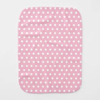 Lunares ligeros del rosa en colores pastel y del b paños para bebé