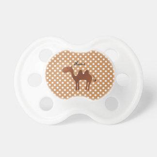 Lunares lindos conocidos personalizados del marrón chupete de bebe