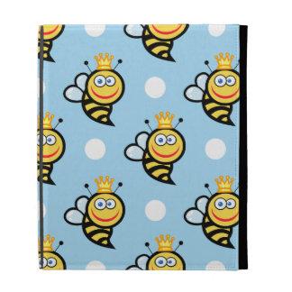 Lunares lindos de la abeja reina, de los azules ci