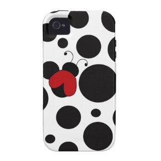 Lunares lindos de la mariquita iPhone 4 funda
