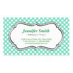 Lunares lindos de la verde menta - elegante simple tarjetas de visita