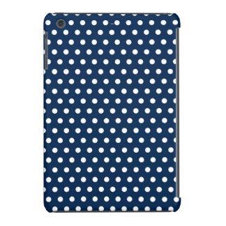 Lunares lindos de los azules marinos y del blanco fundas de iPad mini