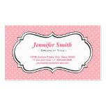 Lunares lindos de los rosas bebés - elegante simpl tarjeta personal