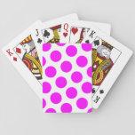 Lunares magentas baraja de cartas