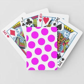Lunares magentas barajas de cartas
