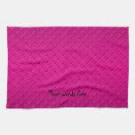 Lunares magentas en fondo magenta toallas