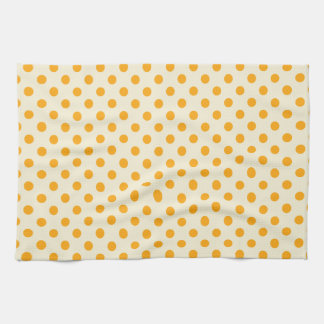 Lunares - mandarina oscura en la vainilla toallas de cocina