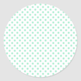 Lunares - menta mágica en blanco etiquetas