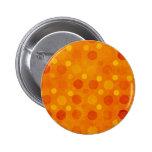 Lunares modernos del naranja y del amarillo pins