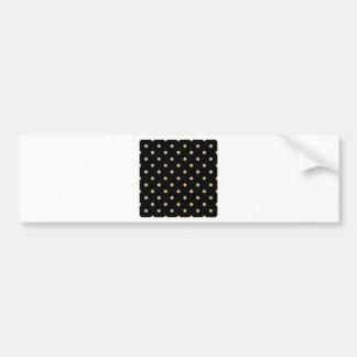 Lunares - moreno en negro pegatina para auto