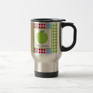 Lunares multicolores de Apple del verde de la taza