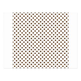 Lunares - nariz de Brown en blanco Postal