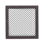 Lunares - negro en blanco caja de recuerdo de calidad
