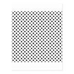 Lunares - negro en blanco postal