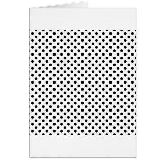 Lunares - negro en blanco tarjeta de felicitación