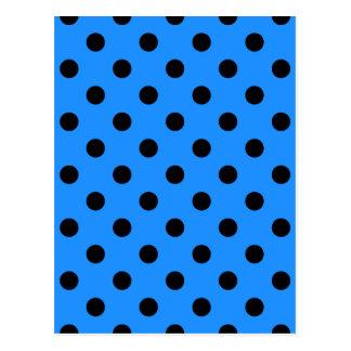 Lunares - negro en el azul de Dodger Tarjetas Postales