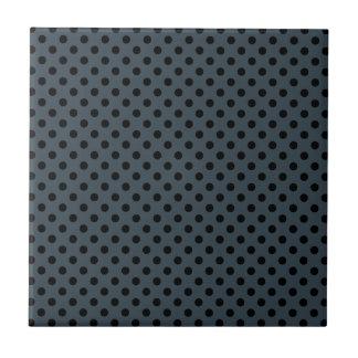 Lunares - negro en el carbón de leña azulejo cuadrado pequeño