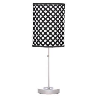 Lunares negros blancos - lámpara de mesa