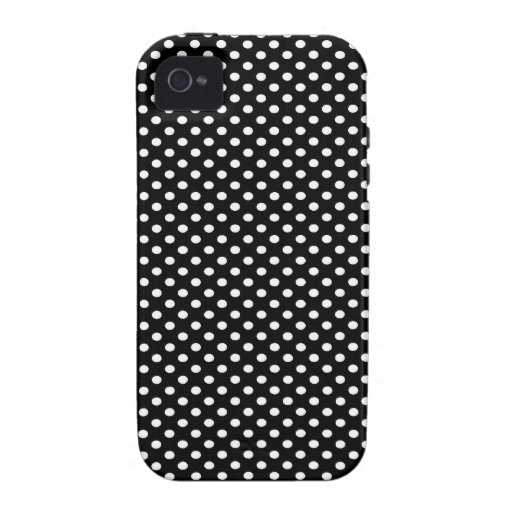 Lunares negros Case-Mate iPhone 4 carcasas