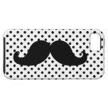 Lunares negros del bigote iPhone 5 Case-Mate cárcasa