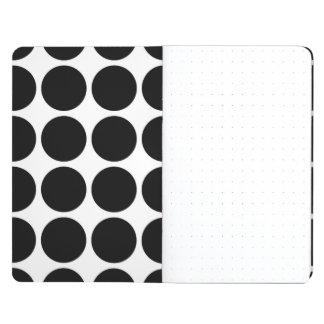 Lunares negros en blanco cuadernos grapados