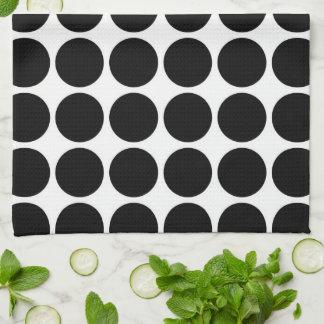 Lunares negros en blanco toallas de cocina