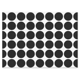 Lunares negros en el papel seda blanco
