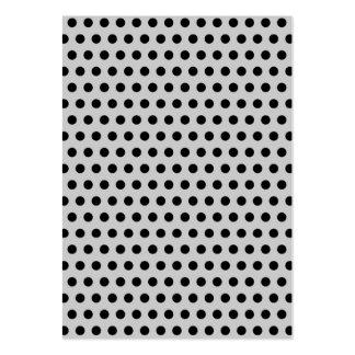 Lunares negros en gris claro plantilla de tarjeta personal