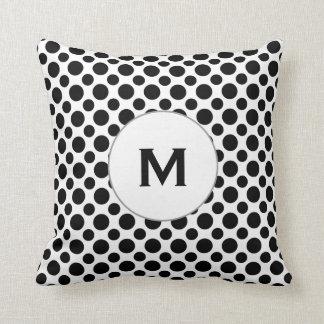 Lunares negros iniciales de encargo en la almohada