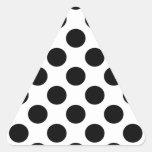 Lunares negros pegatina triangular