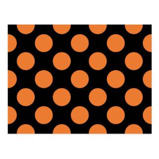 Lunares negros y anaranjados postal