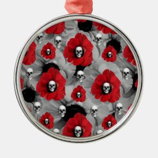 Lunares negros y rojos de las amapolas del cráneo