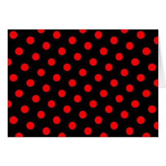Lunares negros y rojos tarjetón