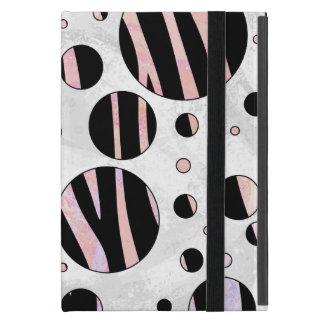 Lunares negros y rosados de la cebra iPad mini cárcasa