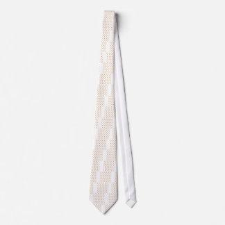 Lunares - ocre en blanco corbatas