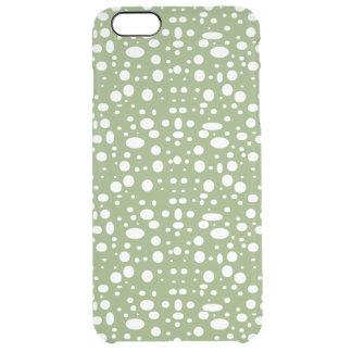 Lunares ovales blancos funda clear para iPhone 6 plus