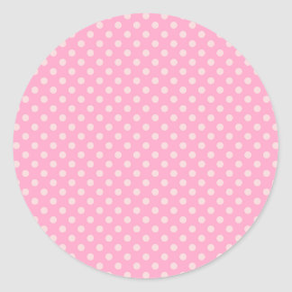 Lunares - palidezca - rosa en rosa del clavel pegatina redonda