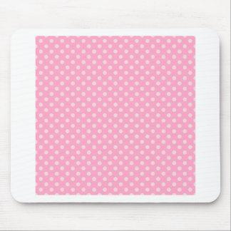 Lunares - palidezca - rosa en rosa del clavel tapete de raton
